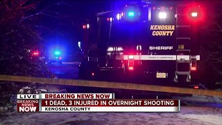 1 dead, 3 injured in overnight Kenosha County shooting