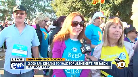 2,000 San Diegans to walk for Alzheimer's research