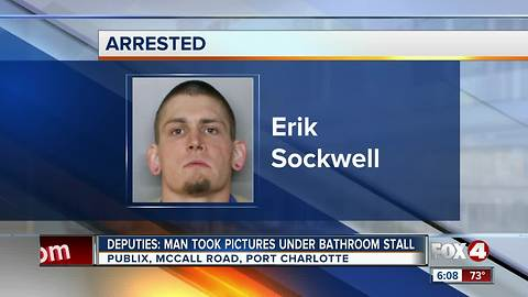 Man accused of taking pictures of girls in Publix restroom
