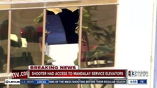Vegas shooter had access to Mandalay Bay service elevators - Video