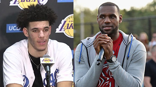 LeBron James Says Happy Birthday to Lonzo Ball - Video