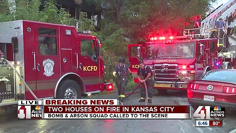 KC firefighters fight flames at two homes