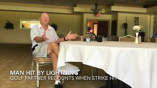 Golfer recounts when partner was struck by lightning in Clearwater - Video