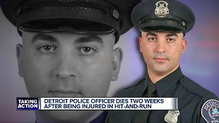 Detroit police officer dies after hit-and-run two weeks ago