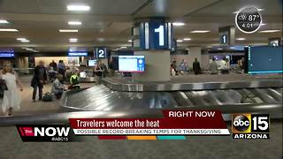 Sky Harbor busy with Thanksgiving travelers - Video