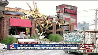 Mayor Bynum surveys damage zones - Video