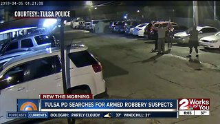 Tulsa police searching for 2 armed robbery suspects