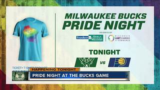 Milwaukee Bucks hosting second annual 'Pride Night' Friday vs. Indiana Pacers - Video