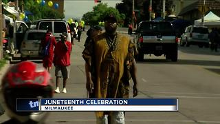 Juneteenth celebration brings cultures together - Video