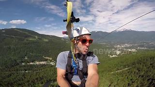 YouTuber ride one of the longest and fastest zipline in the world - Video