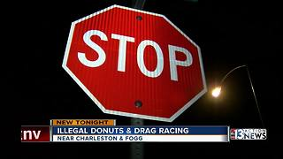 Drivers doing donuts near school caught on camera
