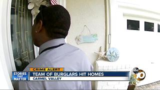 Team of burglars hit Carmel Valley homes - Video