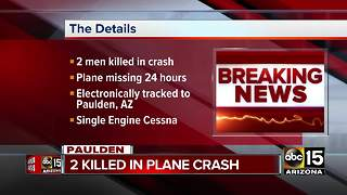 Plane crashes outside of Prescott, 2 dead
