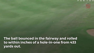 Dustin Johnson Came Inches Away From A Par-4 Hole-in-One - Video