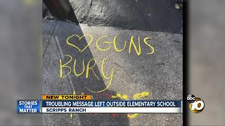 Troubling message left outside elementary school - Video