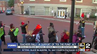 Teachers, advocates rally in Annapolis for more school funding
