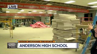 Checking out the new Anderson High School cafeteria - Video