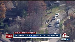 Juvenile charged with murder in Indy doctor's death - Video