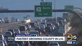 Maricopa County tops list as fastest growing county - Video