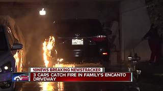 San Diego police, fire officials investigate suspicious car fires at Encanto home - Video