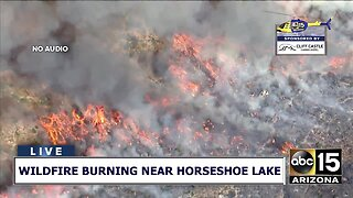 RAW: Wildfire burning near Horseshoe Lake