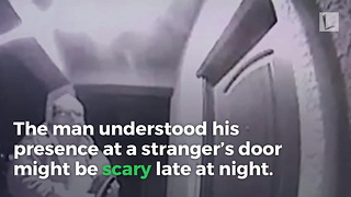 When She Sees What Stranger Left on Doorstep in Middle of Night, Knows She Must Find Him - Video
