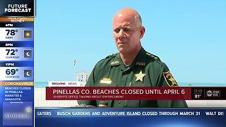 Pinellas County beaches closed until April 6 due to coronavirus concerns