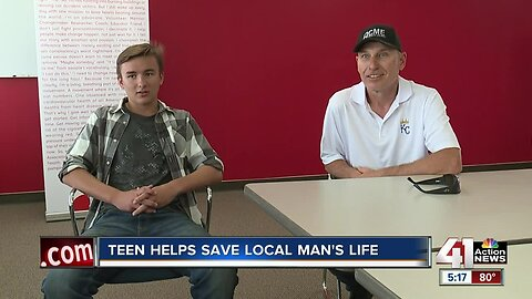 Teen helps save local man's life