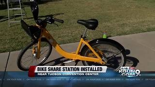Tugo Bike Share station installed downtown - Video