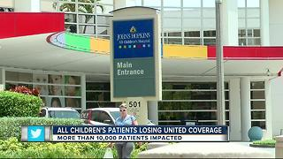 All Children's patients losing United coverage - Video