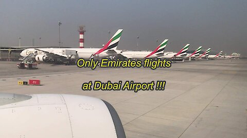 Only Emirates flights at Dubai Airport
