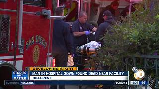 Man wearing hospital gown found dead near facility - Video