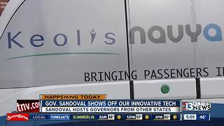 Governor talks self-driving vehicles to close out CES - Video