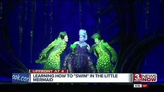 Swimming onstage at 'The Little Mermaid' - Video