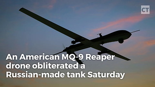 American Drone Destroys Russian-Made Tank - Video