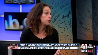 Local screening: New documentary 'The S Word' highlights suicide survivors - Video