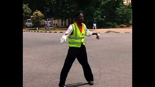Breakdancing Traffic Warden - Video