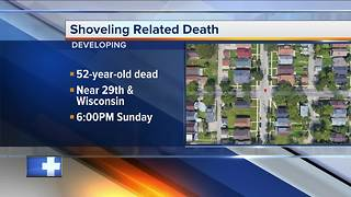 Shoveling-related death investigation underway in Milwaukee - Video