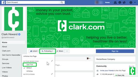 How to find Clark in your Facebook news feed
