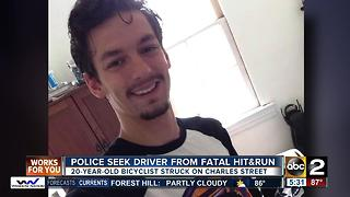 Hit-and-run driver sought after bicyclist killed - Video