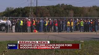 Worker scared after another worker killed himself at Ford plant in Woodhaven - Video
