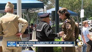 WWII Veterans celebrate at Spirit of '45 Day - Video