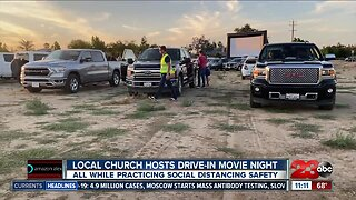 Local church hosts drive-in movie night during COVID-19