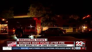 Woman's body found after fire - Video