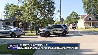 75-year-old Clinton Township man tied up, robbed at gunpoint in home - Video