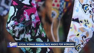 ISP employee sews face masks for medical professionals