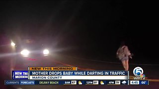 Florida mother drops baby while running into traffic
