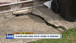Cleveland man says his home is sinking into the ground - Video