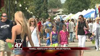 Howell hosts 57th annual Melon Festival - Video