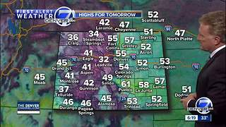 Flurries for Denver area early tonight - Video